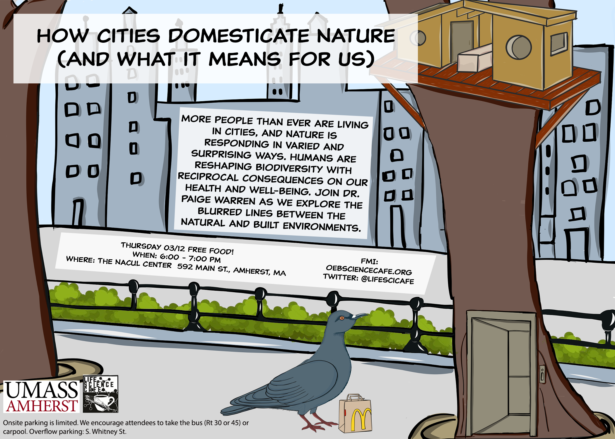3/12 Science cafe: How cities domesticate nature (and what it means for us)